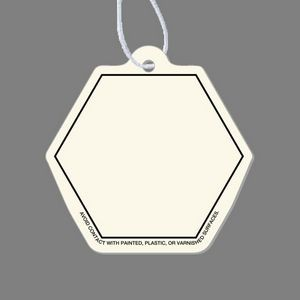 Paper Air Freshener Tag - Hexagon Tag W/ Tab